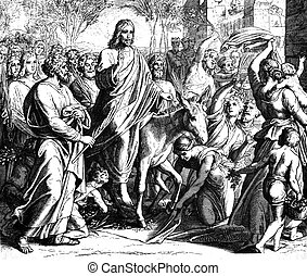 Palm Sunday Entry by Jesus 1) Sacred-biblical history of the...