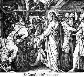 Jesus Heals a Paralytic 1) Sacred-biblical history of the...
