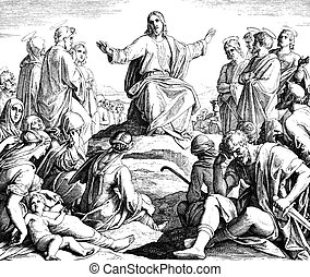 Sermon on the Mount - These engravings were written and...