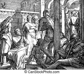 Peter's Denial - These engravings were written and published...