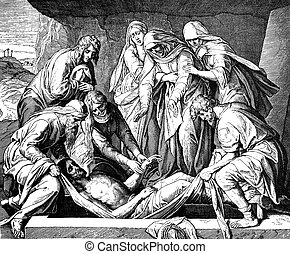Jesus Buried - These engravings were written and published...