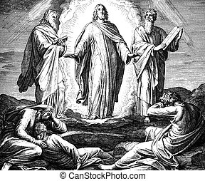 Jesus' Transfiguration - These engravings were written and...
