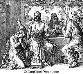 jésus, et, les, pécheur,