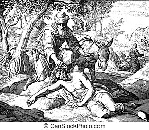 The Good Samaritan 1) Sacred-biblical history of the old and...