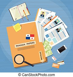 Offshore Papers Folder Documents Company Business People Owners
