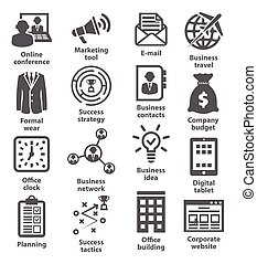 Business management icons. Pack 12. - Business management...