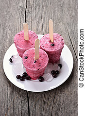 Homemade blackcurrant popsicles - Blackcurrant popsicles...