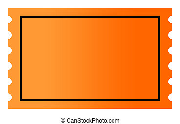 Blank orange ticket - Blank orange gradient ticket with copy...