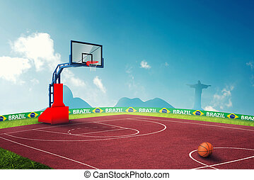 Basketball ciurt in brazil for the summer games