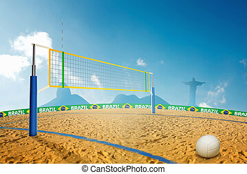 Olympic Beach volley - Olympic beach volley in Brazil summer...