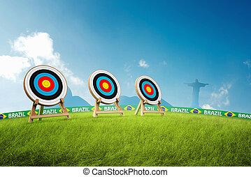 Olympic archery - Archery Olympic discipline with Brazilian...