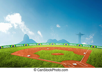Baseball field in brazil for the summer games