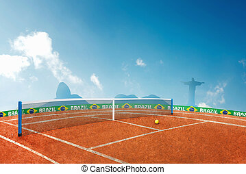 Tennis - Red ground tennis in brazil for the summer games