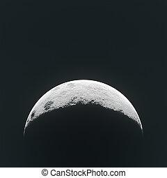half tone moon - moon halftone effect,