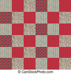 Quilt design n.1, photographic collage for a quilt -...