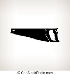 Rip Saw , Agricultural Tool - Rip Saw , Silhouette a...