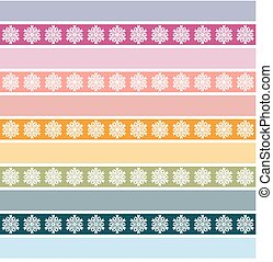 Seamless striped pattern with floral ornament