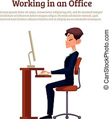 Image of an office worker