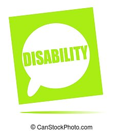 DISABILITY speech bubble icon