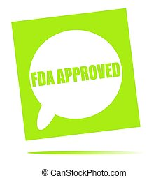 fda approved speech bubble icon