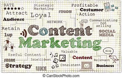 Content Marketing Illustration - Illustration about Content...