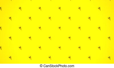 Yellow Stars Abstract - Loop able 3DCG render Abstract...
