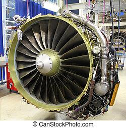 jet engine front - jet engine during maintenance
