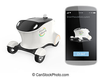 Self-driving delivery robot car - Self-driving delivery...