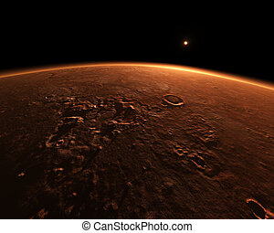 mars - An illustration of the red planet mars
