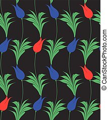 Turkish tulip seamles pattern