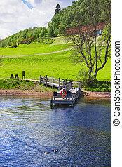 Pier in Loch Ness in Scotland Loch Ness is a city in the...