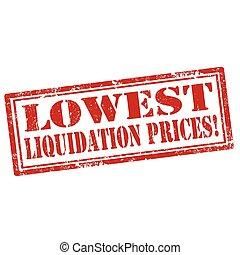 baixo, liquidação, preços,