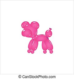 Pink Balloon Pig Realistic Vector Illustration Isolated On...