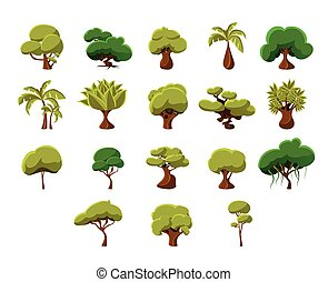 Tropical Trees Collection - Tropical Trees Video Game Flat...