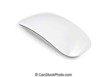 White Smooth Mouse - White computer mouse isolated with...