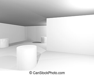 Empty Simple White Interior