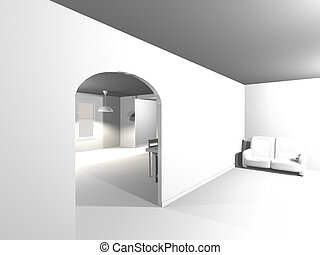 Simple White Interior