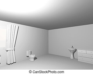 Toilet Simple White Interior