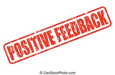 POSITIVE FEEDBACK RED STAMP TEXT ON WHITE