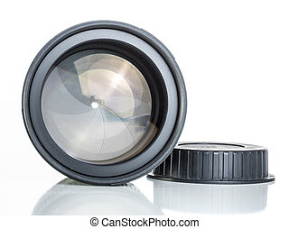 proffesional photography lens clearly showing the aperture...