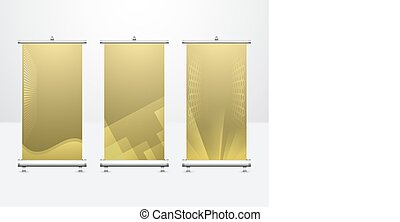 Banner Vector Set - Vector of modern roll up banner with...
