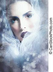 fantasy woman portrait with veil