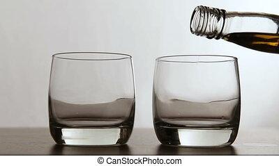 Glasses of whisky