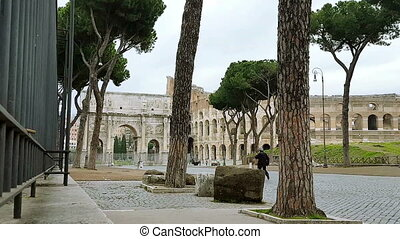Colosseum - Rome, the Colosseum, the Roman dostost...