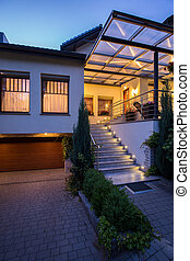 Stairs and garage - Photo of stairs and garage in front of...