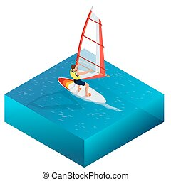 Windsurfing, Fun in the ocean, Extreme Sport, Windsurfing...