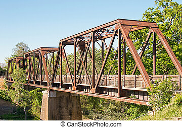 Historic Trestle Train Bridge - Panoramic view of Winters'...