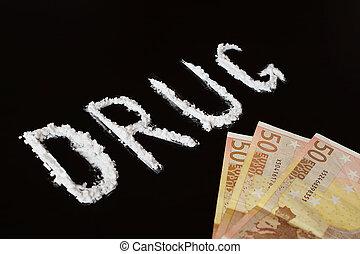 texte, drogue, et, argent,