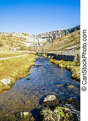 Malham Beck and Cove, Yorkshire England - Malham Beck and...