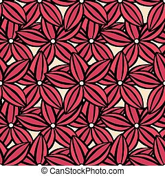 pattern of flowers - Vector creative hand-drawn abstract...